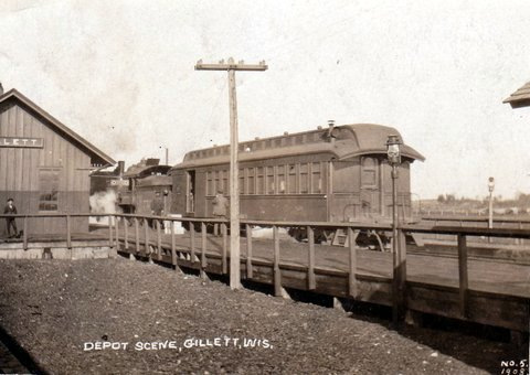 City of Gillett train depot